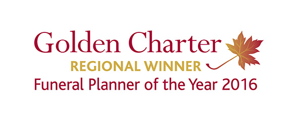 Golden Charter - Regional Winner Badge - Funeral Planner of the Year 2016