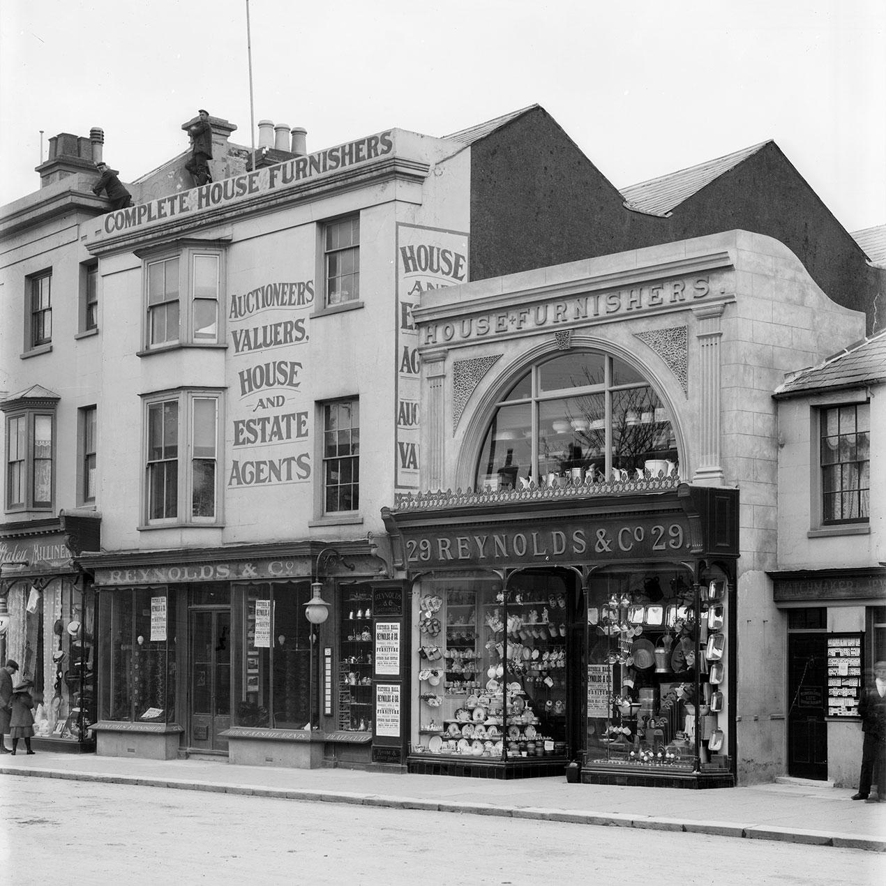 Photograph of the original Reynolds storefront in Bognor Regis